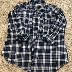 Hollister Button Down Plaid Shirt